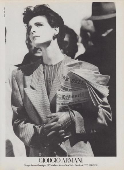 Antonia Dell'Atte, Testimonial Giorgio Armani negli anni '80